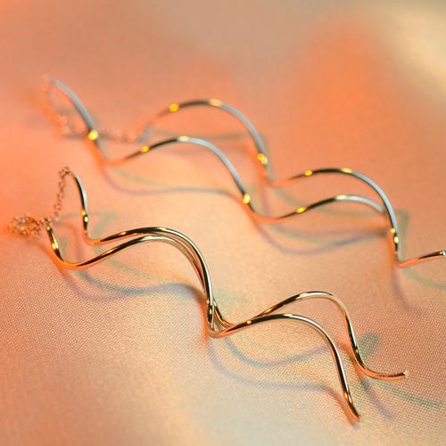 氣質 韓國簡約長款螺旋複古直線耳線耳環女 特別釘耳飾品