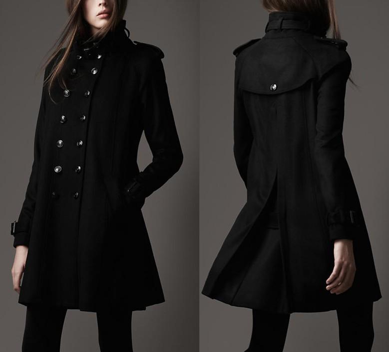 1c0f737e73b8 женское пальто Великобритания покупки Burberry воронка шеи военных пальто  воронку шеи военных пальто