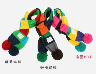 Children s winter fashion scarf Korean children colored scarves winter fashion scarves children Scarf
