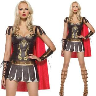 Female warrior Greek goddess Gladiator warrior costume Queen Costume stage costume Halloween Costume role play