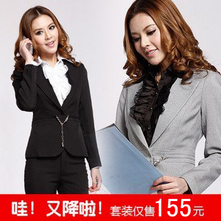 Spring new winter suit suit Ms Slim Ladies wear big yards overalls suit chaps interview dress