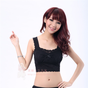 Korean version of spring and summer suspenders with a chest pad full lace cotton vest wrapped chest Bra Yoga Bra Underwear