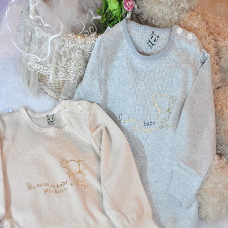 包快 专柜正品小素材儿童内衣套装全棉宝宝内衣 高档内衣低领