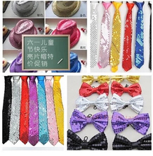 Adult children in kindergarten children show stage magic sequins wholesale tie