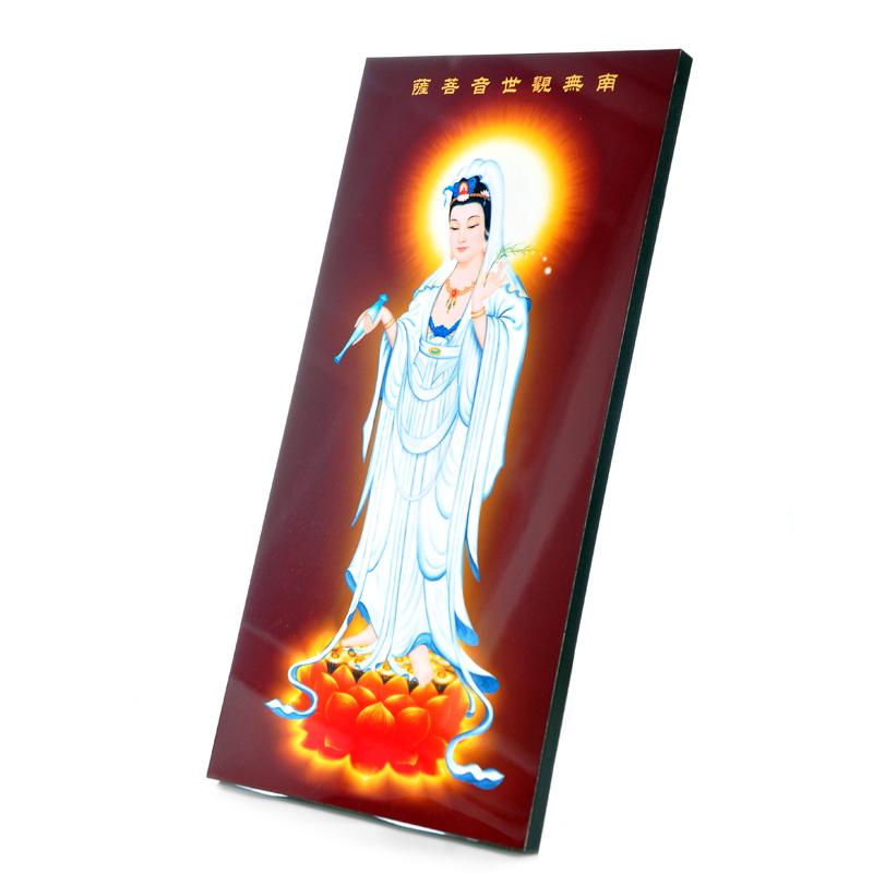 [结缘奉] в подарок [ 限量1份:【观世音菩萨佛像】] разноцветный [水晶面立式] версия [画]