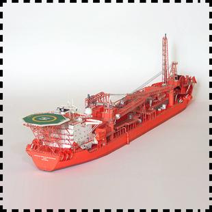 挪威FPSO海上浮式生产储油轮 纸模型 1:400轮船模型 手工DIY 纸艺