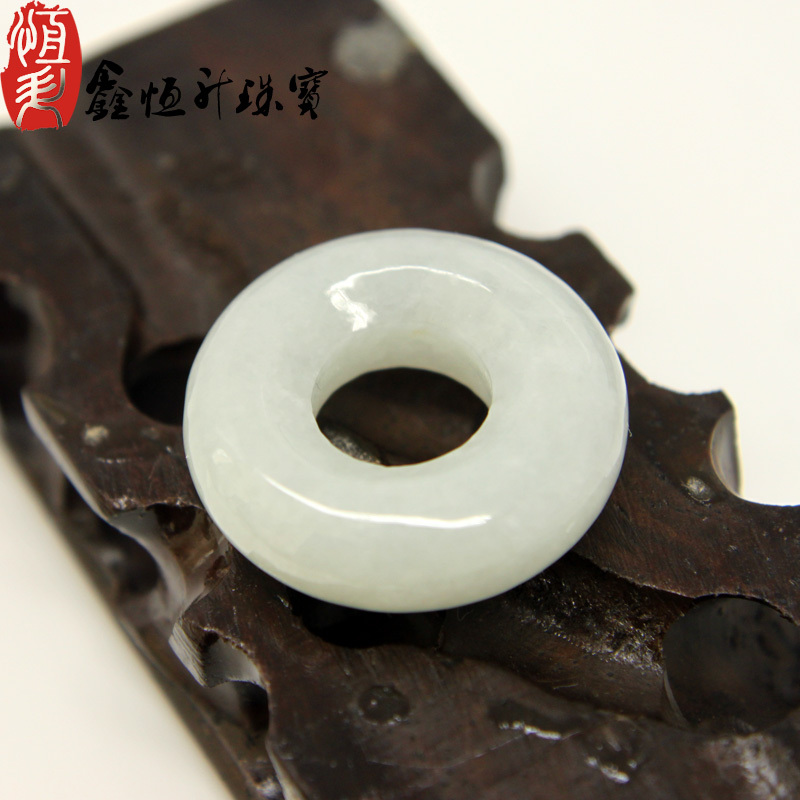 Jewelry jade jade pendant male A-goods jade ring pendant female natural jade safety buckle certificate