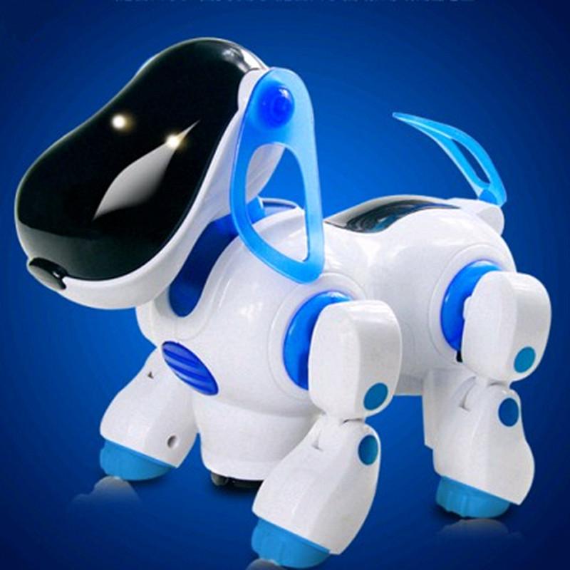 Механическая электрическая музыка собака собаки игрушка домашних животных робот собака мальчика детский Новогодний Подарочный пакет mail