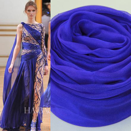 真丝围巾超大桑蚕丝丝巾长款春秋夏季女士披肩两用超长海边深宝蓝