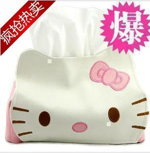 38 Creative hello kitty cute leather leather tissue box tissue pumping towel sets