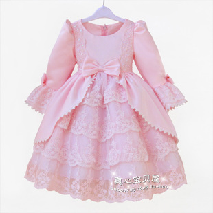 Baby's clothing girls dress children princess skirt dress skirt long sleeves long sleeves Dresses flower girl dresses skirt