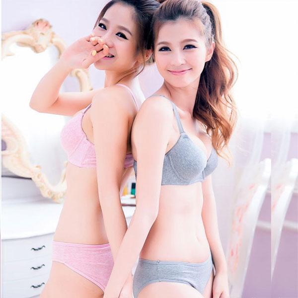 日係性感舒適無鋼圈小胸文胸 純色簡約薄款胸罩 可愛聚攏少女內衣