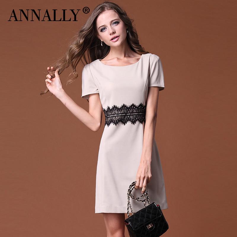annally 2012夏季新款女装 短袖气质通勤 修身显瘦连衣裙