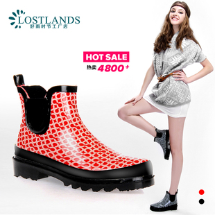LOSTLANDS Duantong rain boots for women without cylinder boots rain boots water shoe lady shoes 2 colors
