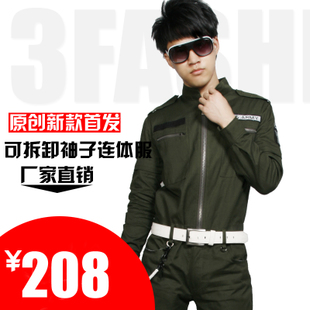 3f Men's Clothing fall and winter clothes suit long sleeves casual uniforms performing arts and entertainment piece can be a genuine universal berserk