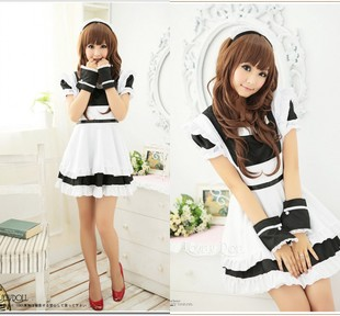 Lolita Maid costumes cosplay Samurai Women's Clothing dress party maid uniforms temptation photo studio clothing /