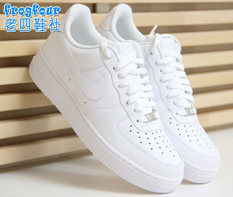 老四鞋社Nike Air Force 1 全白情侣款AF1 315122-111 315115-112