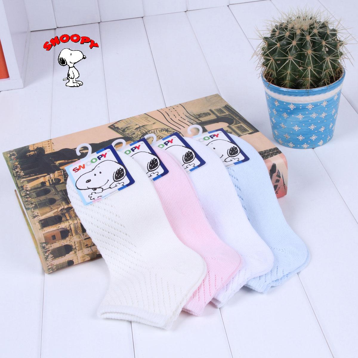Почта оригинальный Snoopy летом тонкой сетки детей носки, хлопчатобумажные носки носки для мужчин и женщин, детские носки