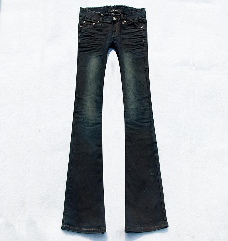 Big promotion season 60 Black Fleece white fringed slim carry buttock small flared jeans