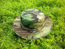 Taken the painted Defier round hat / 20 caps Tourism is prevented bask in fishing The fisherman hat woodland camouflage color more