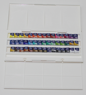 Authentic imported Winsor Newton Cotman 45 solid song text watercolor paints including palette
