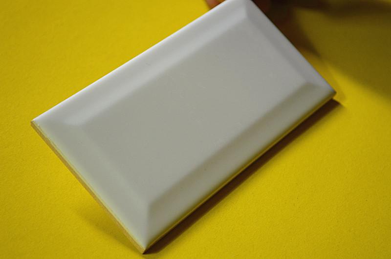 地铁砖 面包砖75*150亚哑光白色凸面瓷砖 斜边转 内墙砖 北欧厨卫