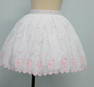 Tailor LOLITA dress princess pink bow tie kitty embroidered skirts spot