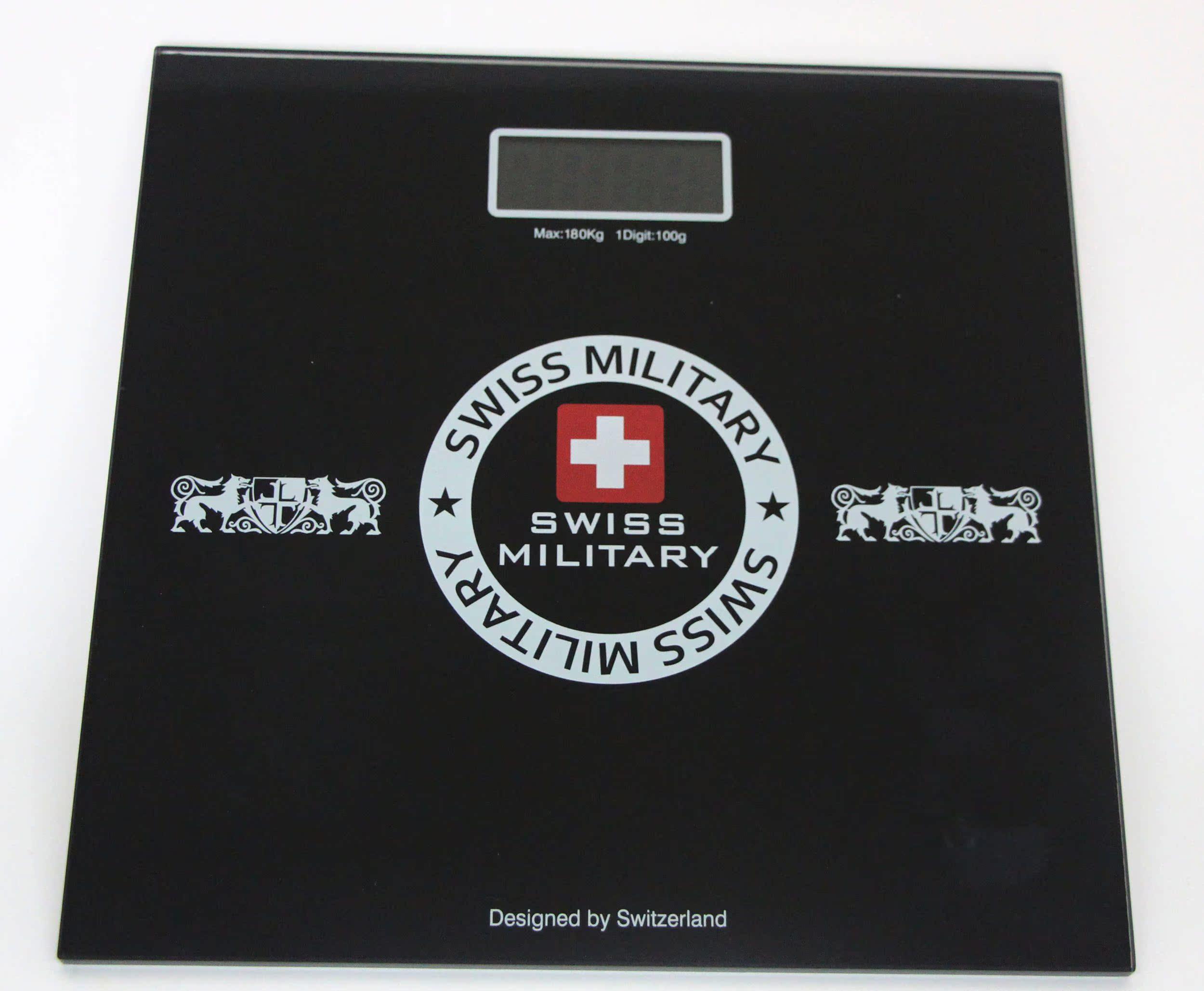 【天天特价】swiss military瑞士军刀品牌8MM钢化玻璃人体秤