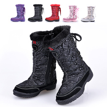 Break code clearance Girl children winter boots girls boots boots boots in the girl's warm cotton boots