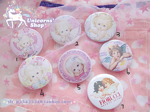 Japanese Harajuku AMO ZIPPER KATIE kate retro angel SPANK NADIA badge brooch