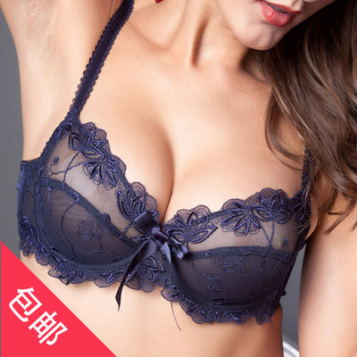 949a8e336a Package mail fashion super sexy temptation transparent underwear bra  gathered Japanese ultra-thin bud silk yarn network clients