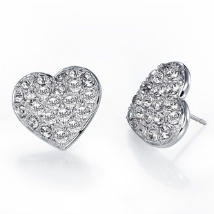 Full of discrepancies in the actual shape of hearts female Korean fashion wholesale jewelry store earrings 0804620602CA cdfeifei