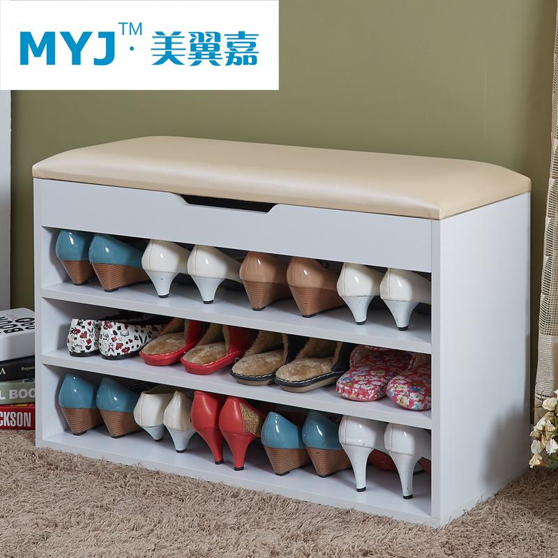 免 多 換鞋凳鞋櫃簡約 穿鞋凳鞋架收納儲物凳沙發凳歐式