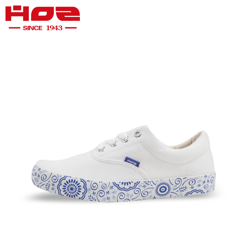 Hoz back street canvas shoes womens shoes national style low top breathable hand-painted pattern casual single shoes