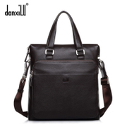 Men's leather shoulder bag business casual men Messenger bag leather document bag man bag