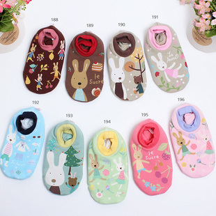 South Korean imports of purchasing sugar rabbit infants and young children slip sock baby socks floor socks spring and autumn thin Early Learning