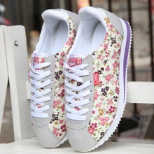 Age season han edition of forrest gump shoes female students leisure sports shoes shells shoes female floral single shoes running shoes