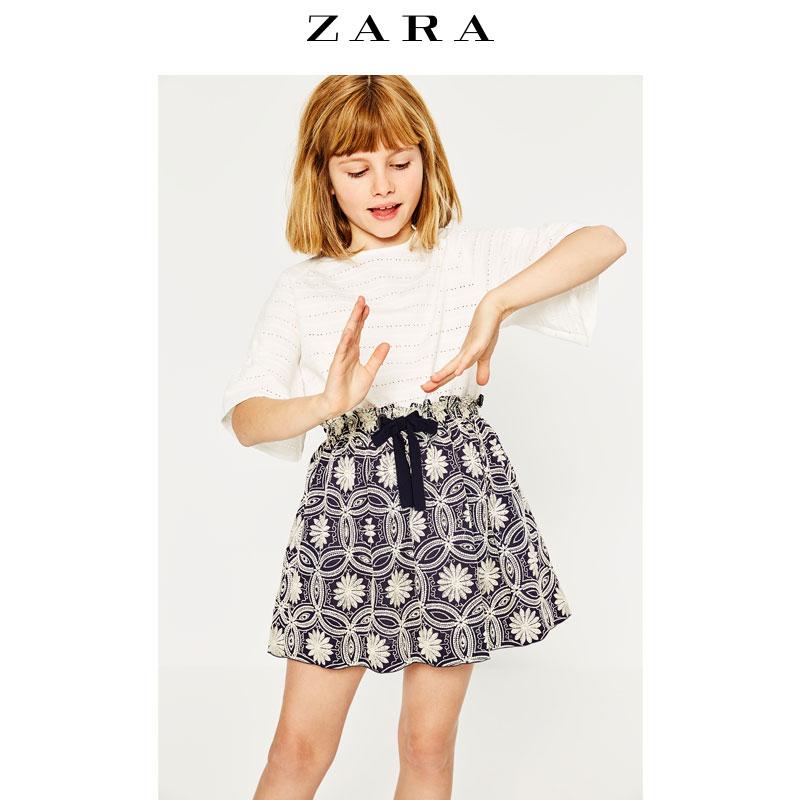 Весна скидка ZARA ребятишки жаккард юбка 01102914401