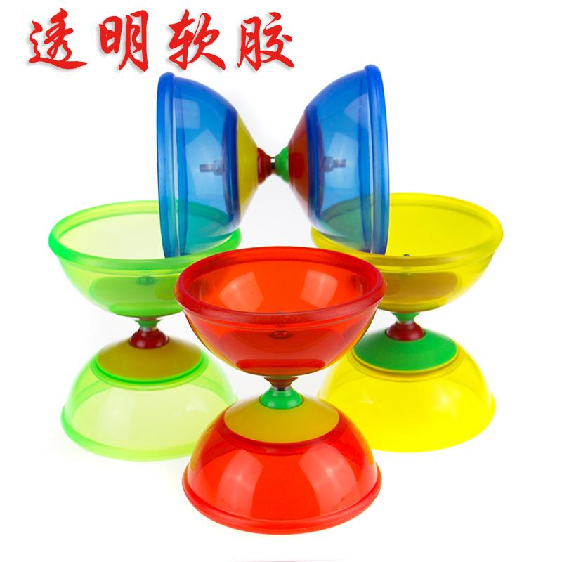 華鈴 透明一軸承 軟膠皮碗 安全扯鈴 學生兒童 發光空竹