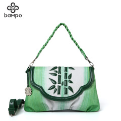 Banpo leather women bag shopping with first layer leather small bag retro Chinese style original art shoulder bag