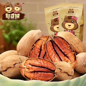 【憨豆熊】碧根果特产 坚果休闲长寿果 小吃零食208g*2