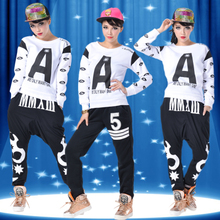 Jazz dance top modern dance hip hop dance T-shirt clothing DS stage shows female uniforms performance clothing