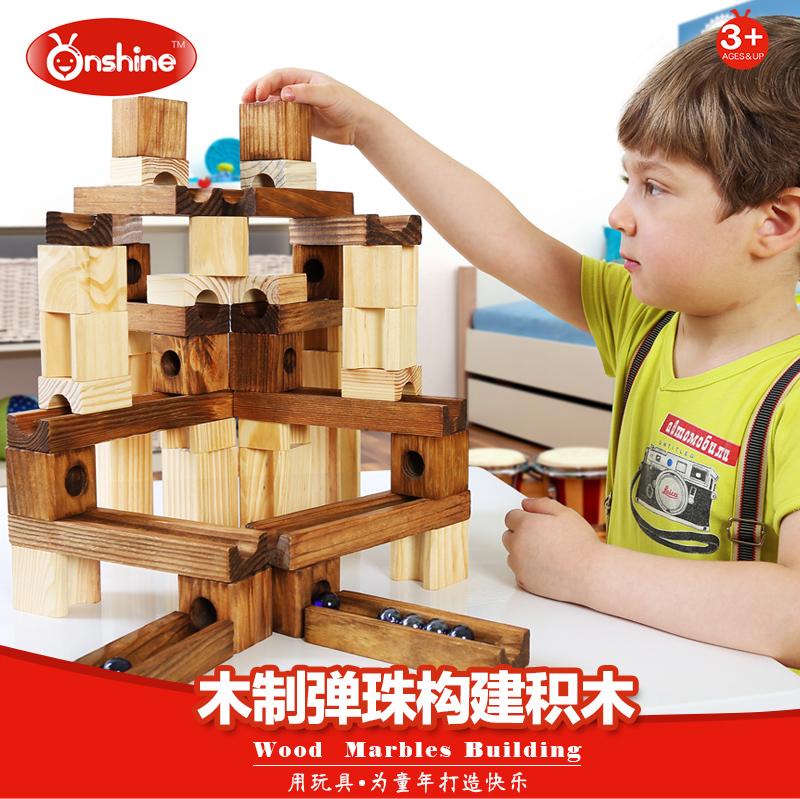 木质の玉轨道构筑を组み合わせて益智ブロックを组み立ててボールブロックを组み合わせておもちゃを组み合わせます。
