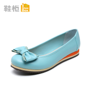 Shoebox sweet bow shoes new shoes asakuchi round head low heel shoes 1115101037