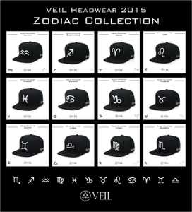 领5元券购买VEIL Zodiac Collection 星座 系列 12星座  棒球帽