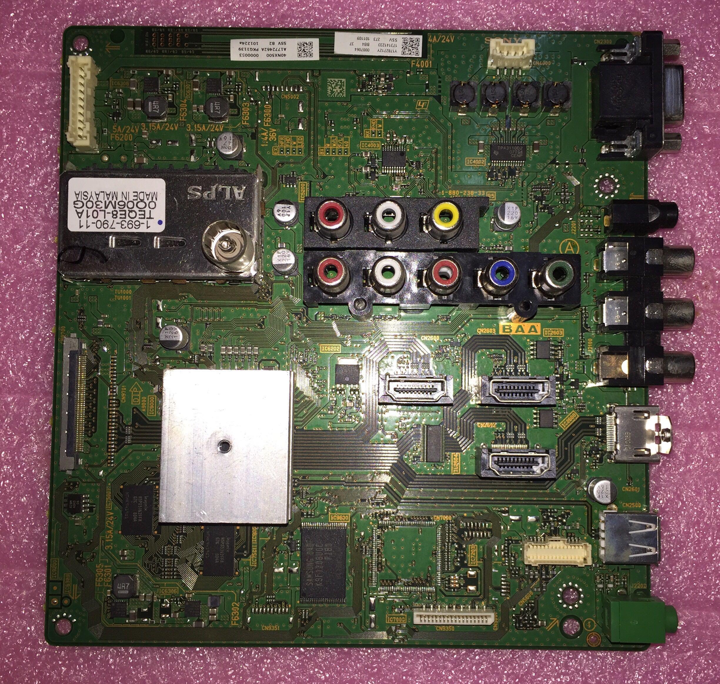 Новый Sony KLV-40NX500 Совет 1-880-238-32 1-880-238-33 A1782712A