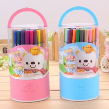 Real color s2600 watercolor pen set 48 color washable color pen beginner's hand painting brush children's kindergarten primary school students use non-toxic to send color filling students stationery wholesale