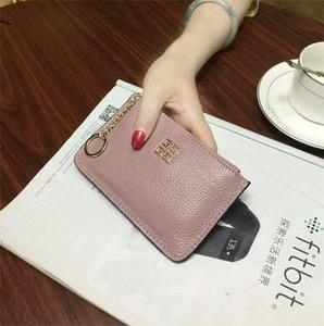 欧美短款钱包女士真皮拉链零钱包韩国迷你小钱包硬币包牛皮复古潮