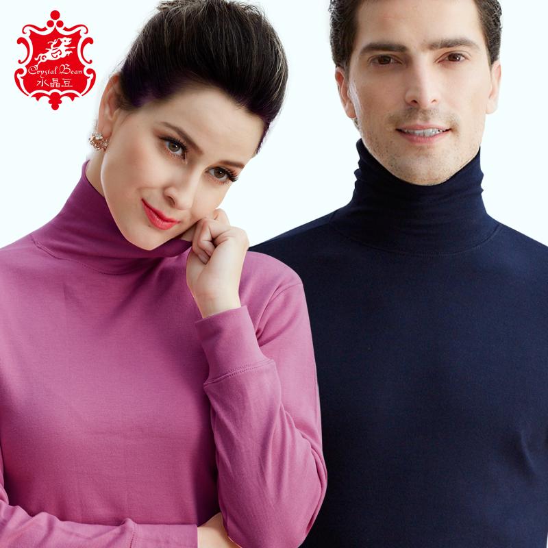 Женщина высокий воротник нижнее белье один мужчина старики блокировка рубашка хлопок свободный куртка в пожилых хлопок осенняя одежда свитер
