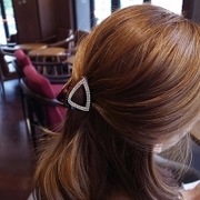 Know NI the Korean version of the new acrylic hair accessories hair accessories diamond drill cut triangle scratch folder